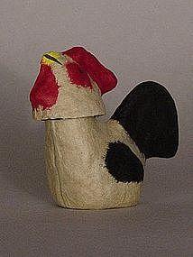 Sendai Hariko Rooster, Papier-Mache Folk Toy