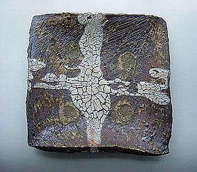 Woodfired Platter, Ash Glaze, George Gledhill