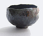 Tea Bowl, Chawan, Black Raku, George Gledhill