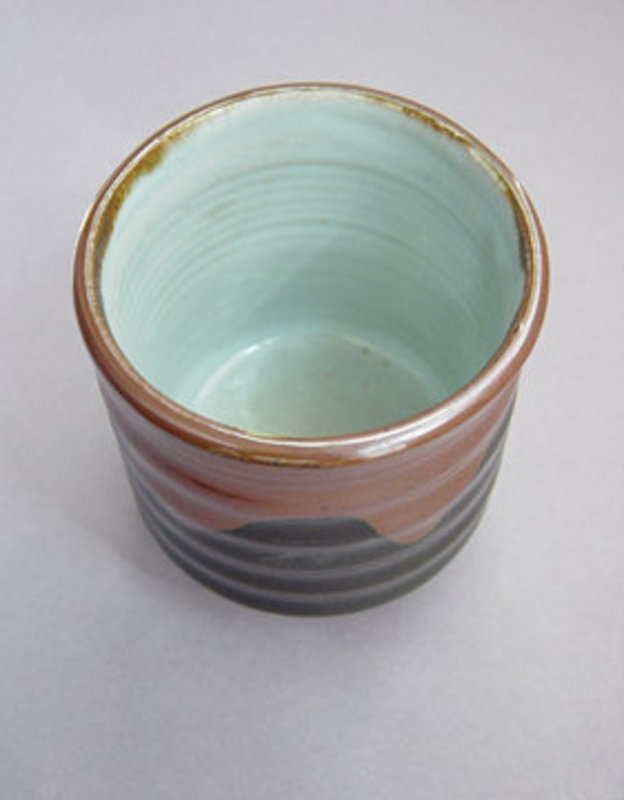 Mashiko Teacup, Yunomi, Kaki-Black Glaze, Hand-thrown