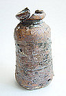 Ceramic Vase, Hanaire, Fissured Mouth, Sachiko Furuya