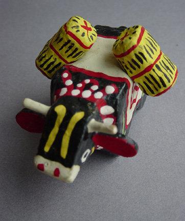 Matsue Hariko Tawara Ushi - Paper Mache Folk Toy