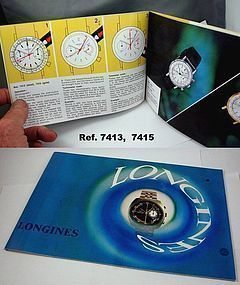 LONGINES Chronograph Series Identification & Instruction Brochure Book