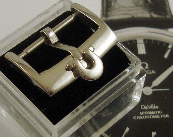 OMEGA 16mm Steel Elongated Logo Old Style Buckle