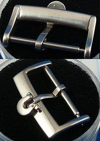 OMEGA 18mm Steel Logo Buckle Factory Unmarked Current