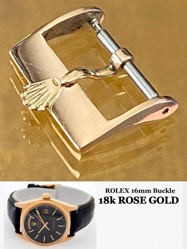 Rolex 18k Rose Gold 16mm Logo Buckle ROLEXSA .750 SWISS