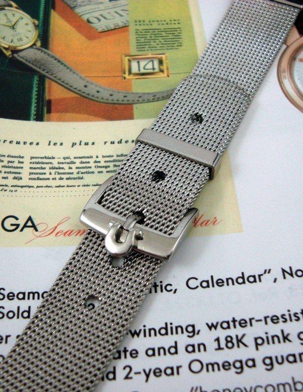 Steel Mesh 18mm Bracelet 16mm Omega Steel Logo Buckle