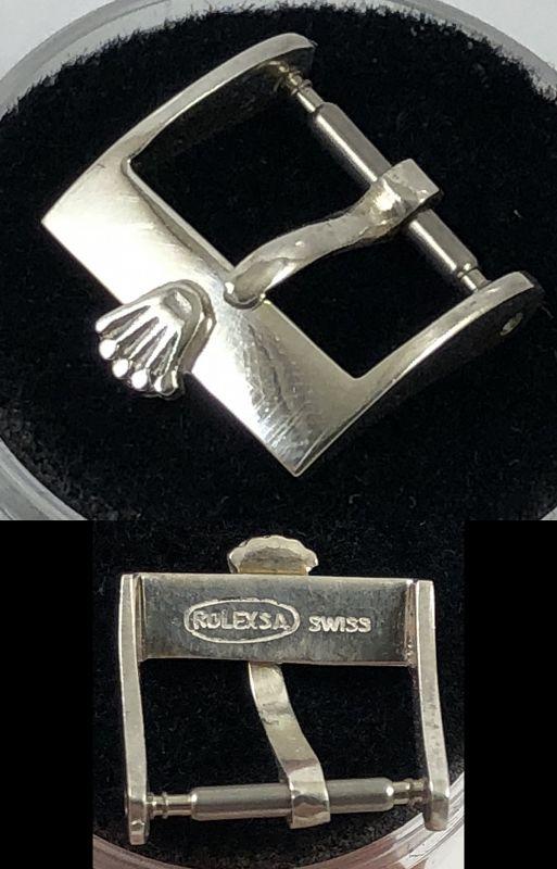 Vintage ROLEX 12mm Ladies Steel Logo Buckle 1970