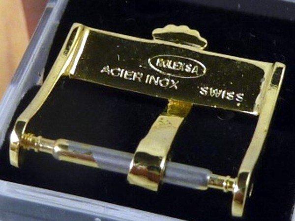 Vintage ROLEX Ladies 14mm Yellow Plate Logo Buckle