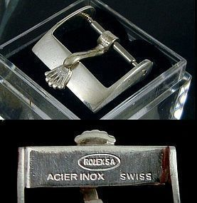ROLEX 14mm Steel Logo Buckle ROLEXSA ACIER INOX Swiss OUT OF STOCK