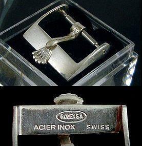 Vintage ROLEX 14mm Steel ROLEXSA ACIER INOX Swiss