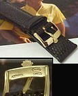 Rolex DATE OYSTERDATE 16mm Yellow Logo Buckle 19mm Tobacco Lizard