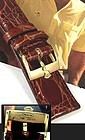 Vintage Rolex 18k Gold Logo Buckle 750 SWISS 20mm Crocodile Strap