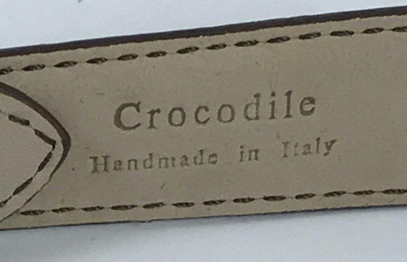 Rolex 18k ROSE GOLD 16mm Buckle 20mm Tobacco CROCODILE