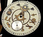 Elgin MASONIC Custom DIal to fit 12 size Elgin