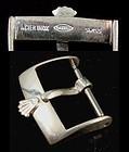 "ROLEX 16mm LOGO BUCKLE METAL ""ACIER INOX ROLEX SA SWISS C: 1972"