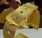 ROLEX 16mm Logo Yellow Buckle 19mm MESH METAL 1960s Style