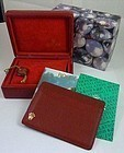 Rolex Ladies Red Presentation Leather Box & Document New/Old Stock