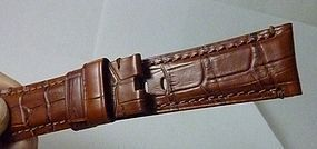 PANERI OFFICINE 24mm Natural Leather with a CROCODILE Pattern Model si