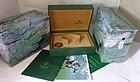 ROLEX DATEJUST BOX & Documents SS 18k White GOLD Bezel 16234