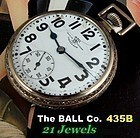 THE BALL COMPANY Grade 435 21j Swiss Original White Gold filled Case