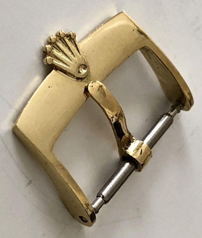 Vintage ROLEX 18k GOLD 16mm Buckle 750 ROLEXSA SWISS