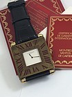 CARTIER Gilt 50mm 100970 Quartz Wrist Conversion SUPER MODEL