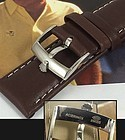 ROLEX 18mm Steel Logo Buckle Laser Marked 20mm BROWN LEATHER