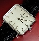 CARTIER PARIS T.V. Model 35mm LINEN DIAL Stainless Steel 1974
