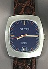 GUCCI OVAL Royal BLUE DIAL DATE 31mm by 37mm C: 1974