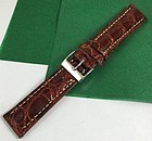 Genuine CROCODILE 20 STRAP Padded Stitched CONGNAC High Grade ITALIAN