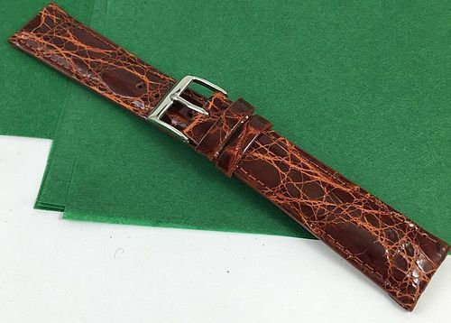 Genuine CROCODILE 19mm STRAP Padded Stitched High Grade ITALIAN