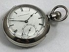 U.S. Watch Co. FREDERIC ATHERTON 18 Jewels Key Wind 4oz. SIlver Case