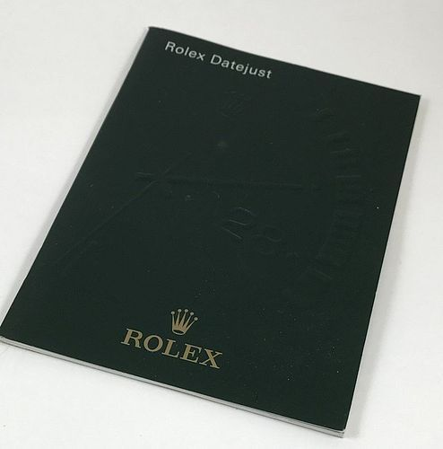 ROLEX DATEJUST Brochure 20 Page imprinted cover 3.5 by 4.75