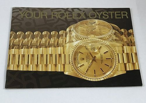 YOUR ROLEX OYSTER 26 Page Color Brochure3.5 by 3.75 inch