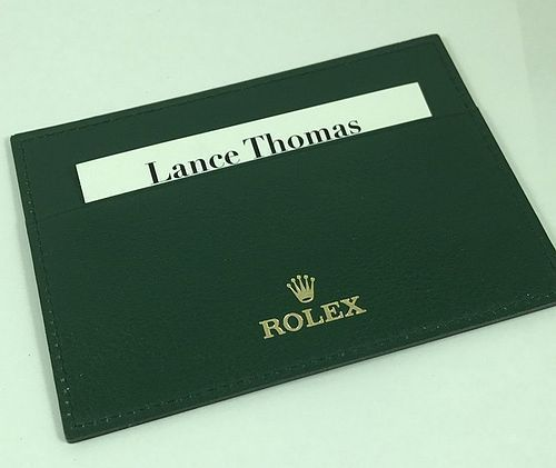 ROLEX I.D. Card Green Leather Holder 4.5 by 3.5 inch Circa: 1995