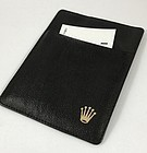 VIntage ROLEX BLACK LEATHER Credit Card Holder 4.5 by 3.5 inch