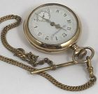 ELGIN FANCY PORCELAIN DIAL Open Face, pendent set, 7 jewels GOLD FILLE