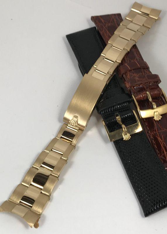 ROLEX 18k Gold 19mm Riveted Link DATE DAYTONA OYSTERDATE Bracelet