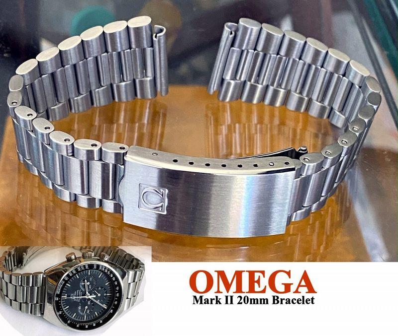 OMEGA Speedmaster MARK II Stainless Steel Deployment Bracelet 1162/173