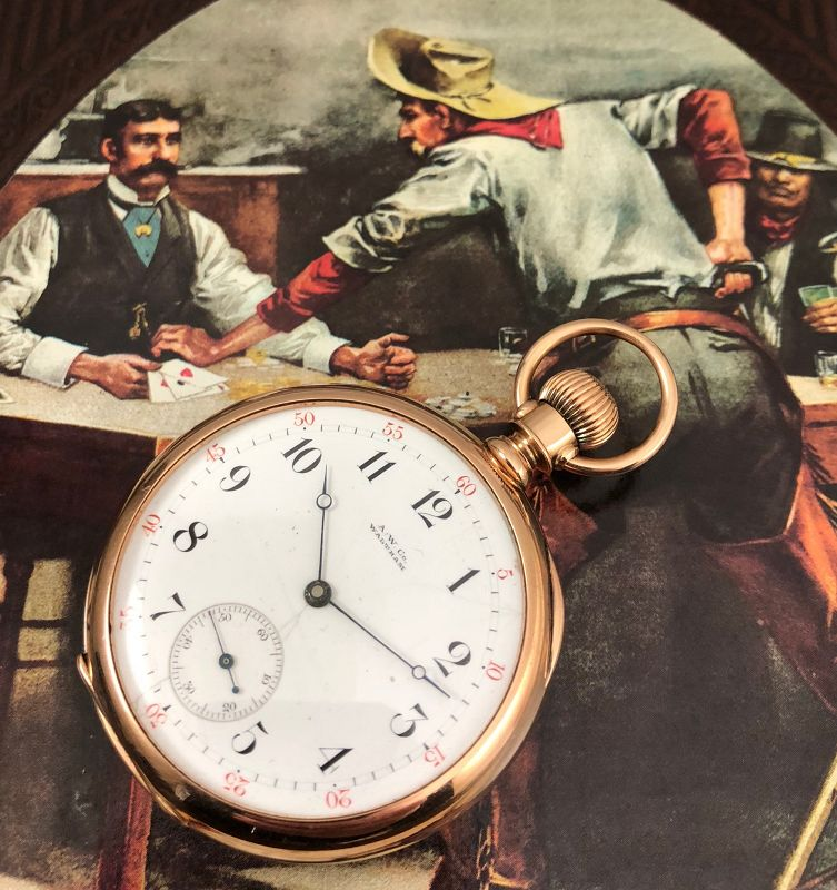 AMERICAN W.Co. WILD WEST 1872 MODEL 14k ROSE GOLD C: 1883