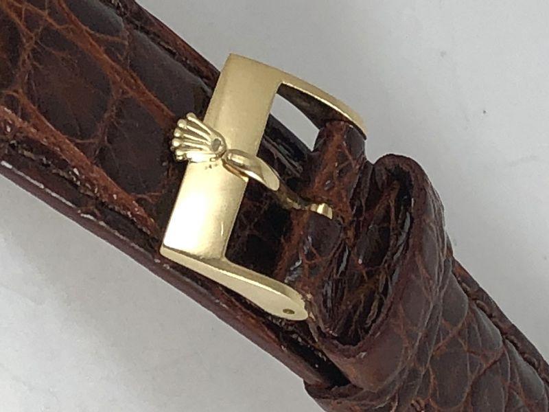 ROLEX PRESIDENT 1803 Model 16mm Buckle 18k Gold 20mm Cognac CROCODILE