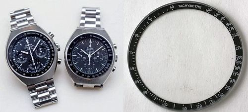 OMEGA SPEEDMASTER MARK III BLACK BEZEL INSERT with GLASS 176.002
