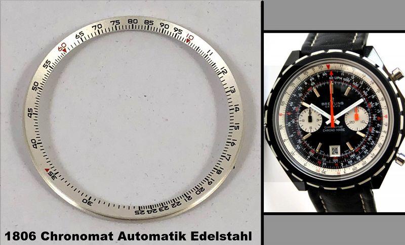 BREITLING NAVITIMER 1806 Chronomat Automatik Edelstahl BEZEL INSERT