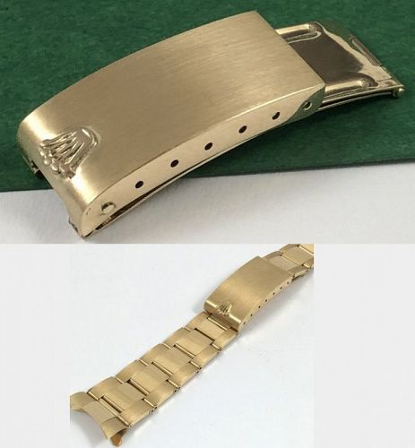 ROLEX 18k GOLD Riveted Link DEPLOYMENT CLASP GMT PRESIDENT 1803