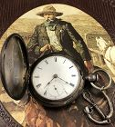 HOME WATCH Co. WILD WEST COWBOY 7j  3.5 oz. Coin Silver CA: 1873