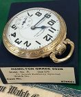 HAMILTON 21j 992B CASE MODEL 11 Mint Porcelain Dial C:1946 with BOX