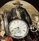 ELGIN WILD WEST COWBOY18 size Key WInd 30z Coin Silver Case 1871