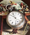 WALTHAM 18s BOX HINGED WILD WEST GAMBLERS Watch 1883