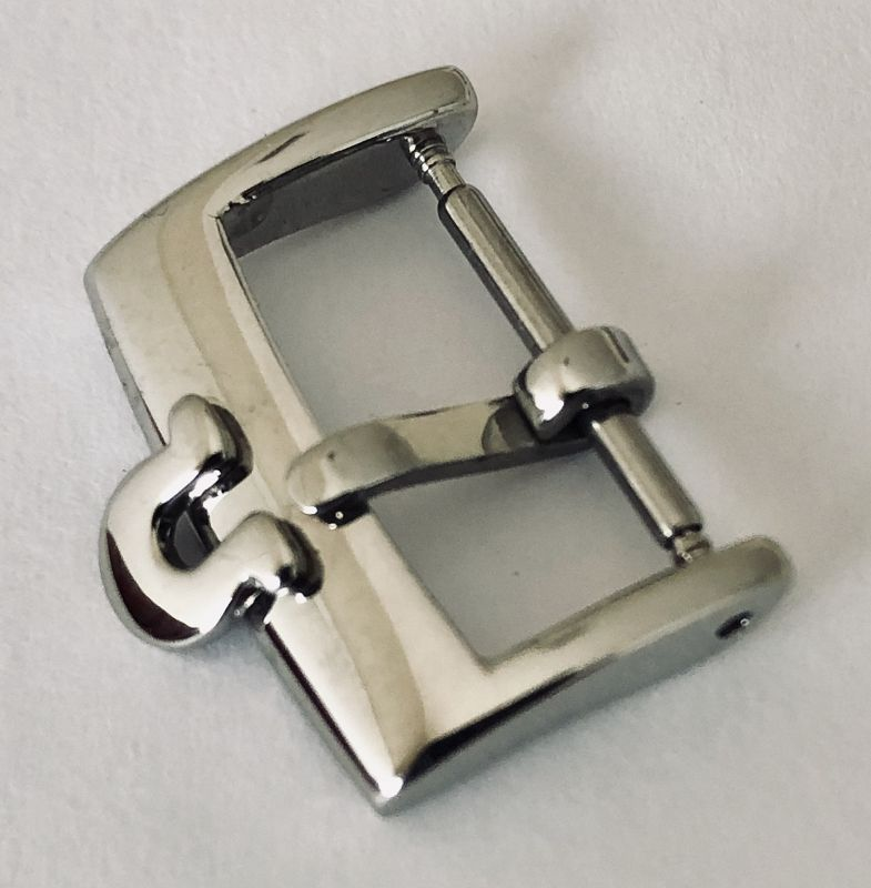 OMEGA Steel 16mm Logo Buckle high quality and unmarked on the back